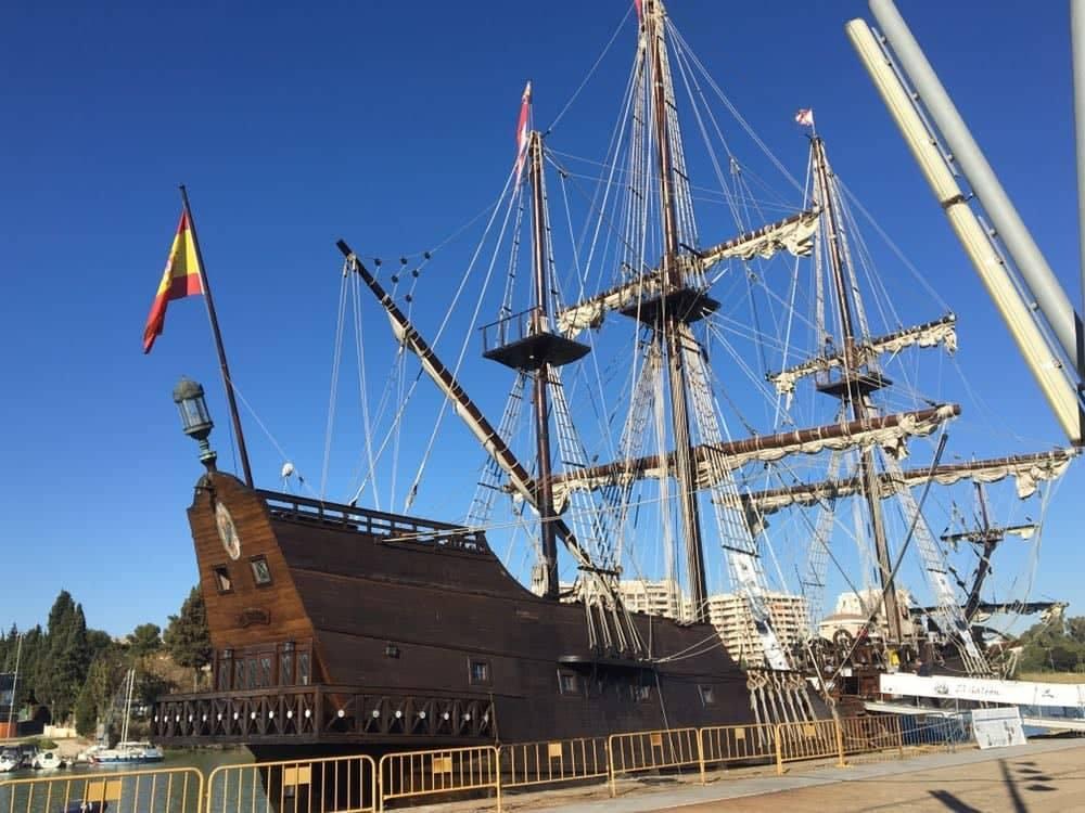 La nao Victoria, el Galeón Andalucía y la carabela Boa Esperança llegan a Sevilla